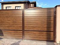 Распашные ворота Alutech ADS400 3000x2000 заполнение сэндвич-панель