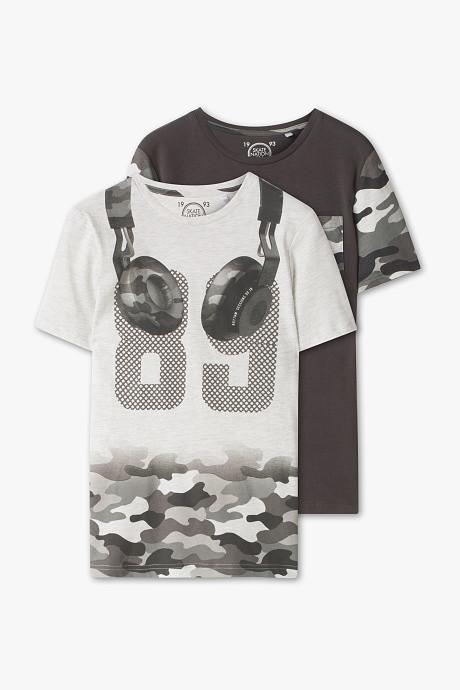 Набор подростковых футболок в стиле милитари для мальчика 11-12 лет C&A Германия Размер 146-152