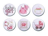 Набор фишек Арт — студия - Baby Girl 5, матовые, 6 элементов