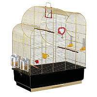 Клетка для средних попугаев и птиц Ferplast Nuvola из латуни (59х33х h 73,5 cm)