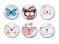 Набор фишек Арт — студия — Бабочки 1, матовые, 6 элементов