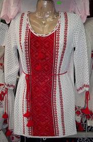 Туника- вышиванка  вязанная р.44-52