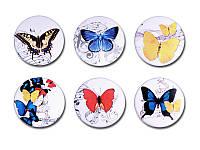 Набор фишек Арт — студия — Бабочки 2, матовые, 6 элементов