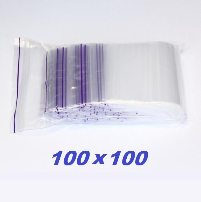 Пакет с замком ZIP LOCK 100×100 (зип лок) 50 микрон