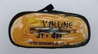 Трос буксировочный (4м х 3т х 5см) лента с крюками (сумка) Walline