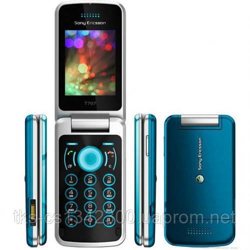 Корпус для телефона Sony Ericsson T707 бирюзовый High Copy - Интернет-магазин AksTel.com.ua в Киеве