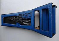 Консоль удлиненная с чехлом КПП ВАЗ 2101, 2102, 2103, 2104, 2105, 2106 синяя
