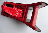 Консоль удлиненная с чехлом КПП ВАЗ 2106 красная. 56221