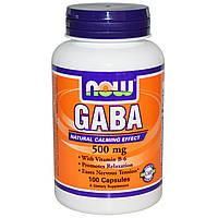 GABA 500mg (100 caps) Гамма-аминомасляная кислота+B6 NOW