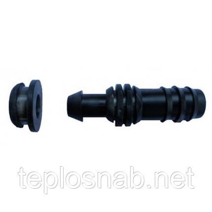 Стартовая муфта для капельной трубки с уплотнительной резинкой, фото 2