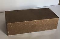 Кирпич облицовочный гладкий коричневый