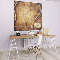 Римская штора Джуси велюр с фотопечатью Навигационная карта 1500*1700 делаем любой размер