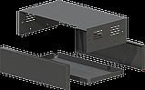 Корпус металевий MB-41 (Ш240 Г140 В65) чорний, RAL9005(Black textured), фото 2