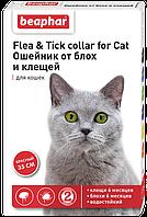 """Ошейник от блох и клещей """"Flea & Tick Collar"""" (красный) для котов и кошек, Beaphar™"""