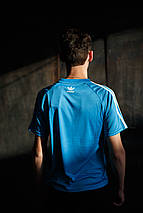 Мужская футболка Adidas Clima Cool KD-302.голубая, фото 3