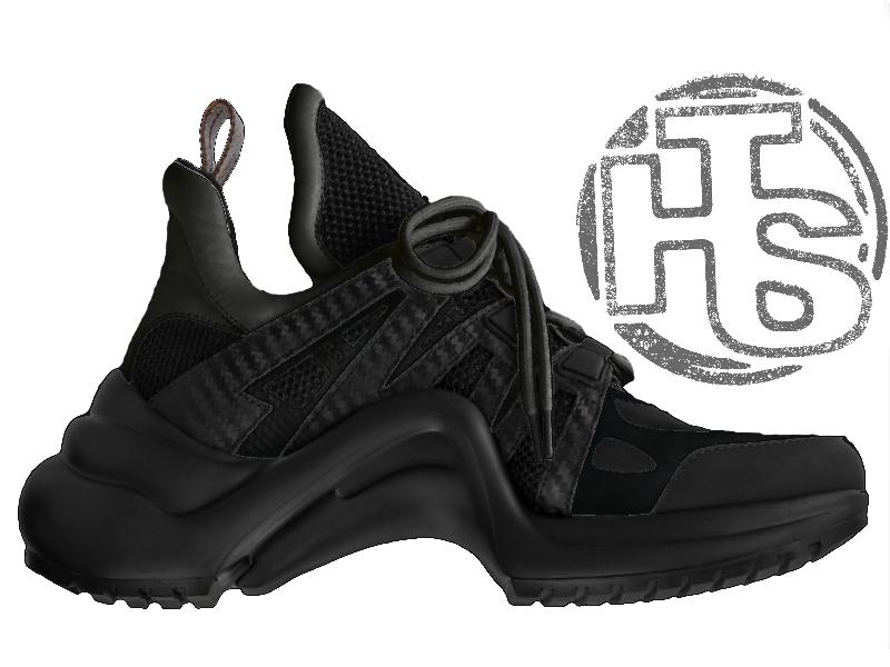 Мужские кроссовки Louis Vuitton LV Archlight Sneaker All Black -  Интернет-магазин