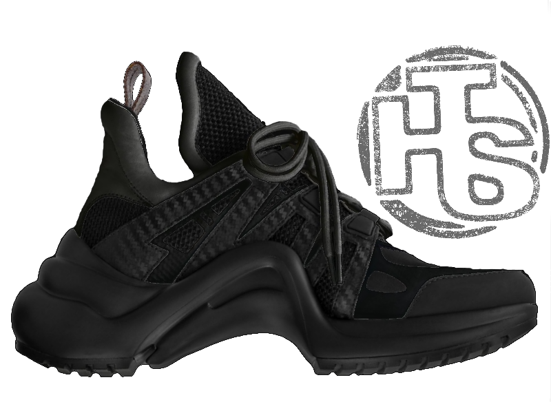 9e2606309c76 Мужские кроссовки Louis Vuitton LV Archlight Sneaker All Black - Интернет- магазин