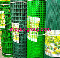 Заборы садовые ,сетки пластиковые. Ячейка 10х10 мм, рул. 1х20 м (зеленая).