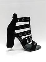 Стильные босоножки на устойчивом каблуке., фото 1