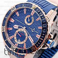 Мужские часы Ulysse Nardin Maxi Marine Diver Blue-Gold-Blue