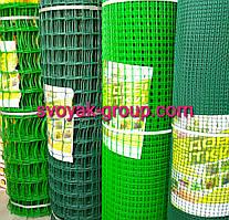 Заборы садовые ,сетки пластиковые. Ячейка 13х13 мм, рул. 1х20 м (зеленая).