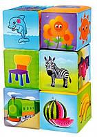 Для Ванной Кубики мягкие обучающие развивающие, 6 шт, M 0257, 000770, фото 1