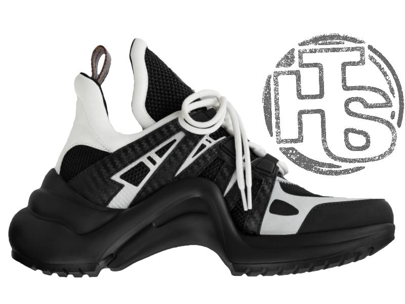 Женские кроссовки Louis Vuitton LV Archlight Sneaker Black White 1A43K5 a24cc687b5f