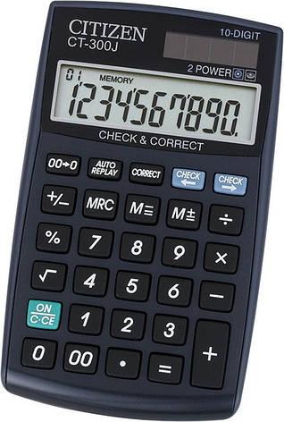 Калькулятор Citizen CT-300J с коррекцией, фото 2