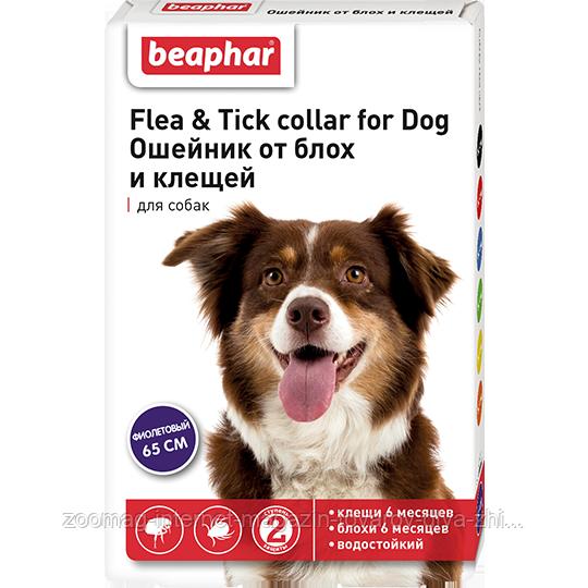 """Ошейник от блох и клещей """"Flea & Tick Collar"""" (фиолетовый) для собак, Beaphar™"""