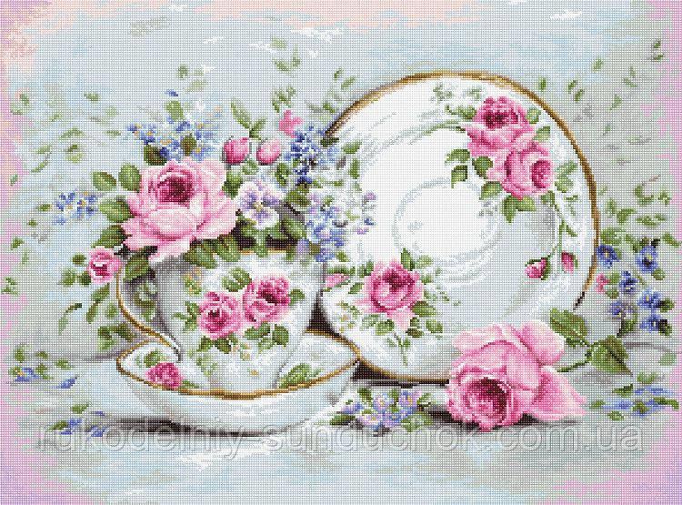 """Набор для вышивания гобелена """"Luca-S"""" G566 Трио и цветы"""