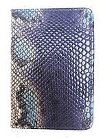 """Обложка на паспорт """"Змея синяя""""P-3975"""