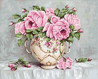 """Набор для вышивания крестом """"Luca-s"""" B2319 Розовые розы"""
