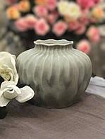 Ваза керамическая Горшочек (пыльно-серый цвет)