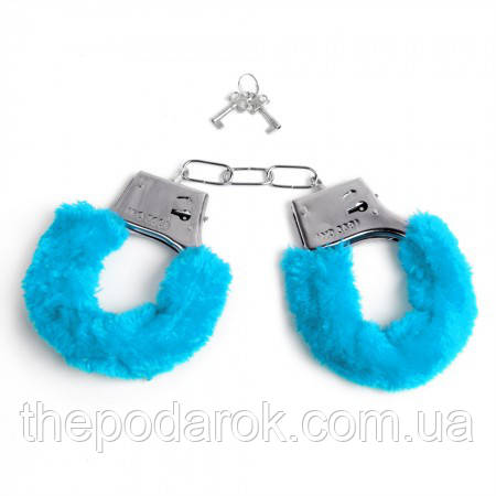Наручники меховые (голубые)