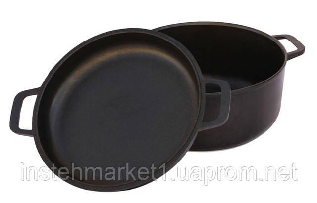 Каструля алюмінієва БІОЛ К502П з литою кришкою сковорідкою 5 л в інтернет-магазині
