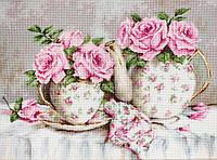 """Набор для вышивания крестом """"Luca-s"""" BA2320 Утренний чай и розы, фото 1"""