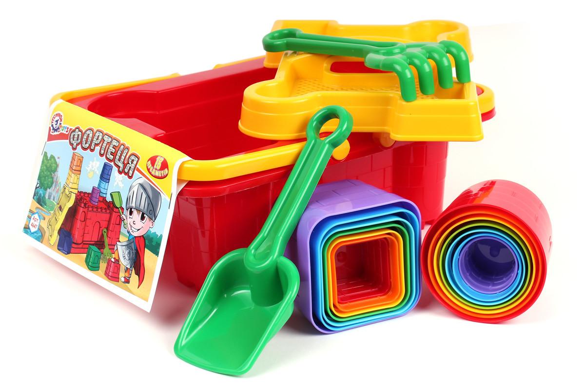 Набор для песочницы: паски, лопатка, грабли - 18 предметов