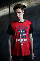Мужская футболка Adidas KD-10125.красная с черным