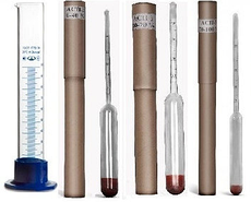 Набор промышленных (спиртометров) (ГОСТ) АСП – 3+цилиндр
