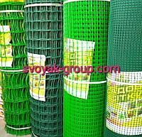 Заборы садовые ,сетки пластиковые. Ячейка 50х50 мм, рул. 1х20 м (зеленая).