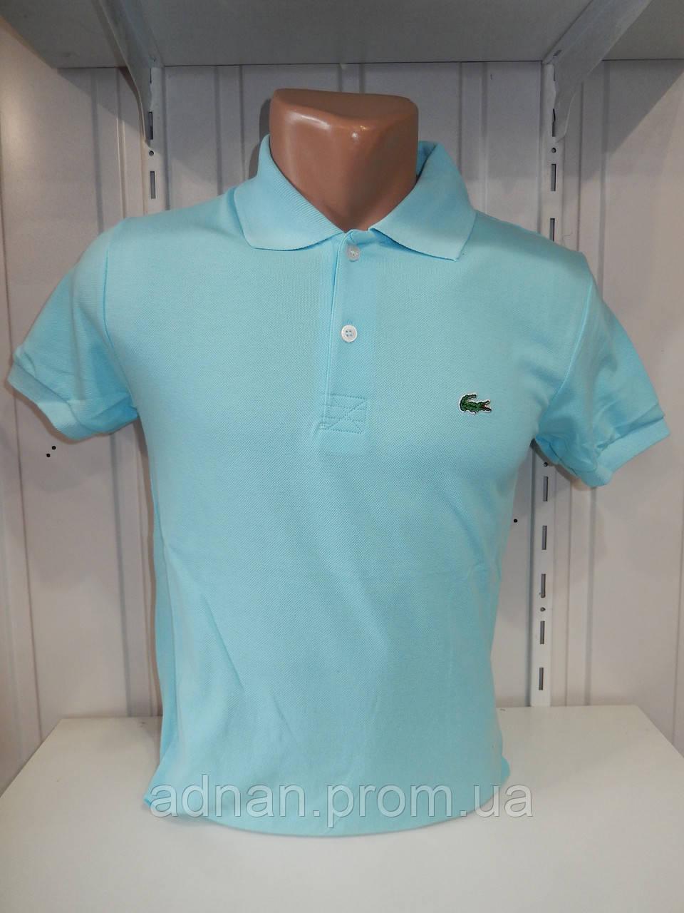 Футболка мужская LACOSTE поло однотонная манжет, 004 \ купить футболку мужскую оптом