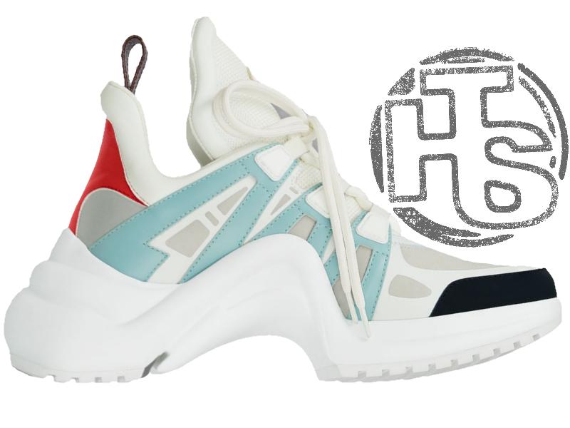 a0b92aaa0352 Женские кроссовки Louis Vuitton LV Archlight Sneaker White Blue 1A43IT -  Интернет-магазин