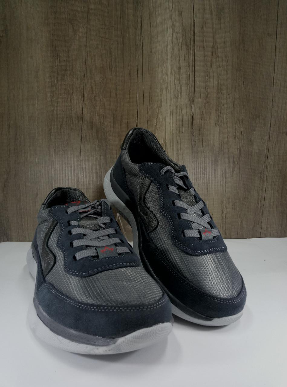 Подростковые кроссовки из натуральной замши+текстиль МИДА 31226