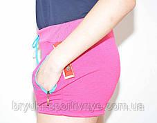 Шорты женские  трикотажные с молниями на карманах, фото 3