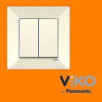 Выключатель 2-х клавишный VIKO Meridian Крем