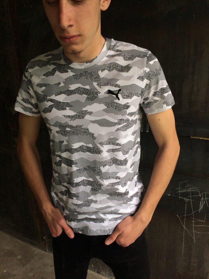 Мужская футболка Puma KD-1220.камуфляж