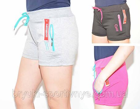 Шорты женские  трикотажные с молниями на карманах, фото 2