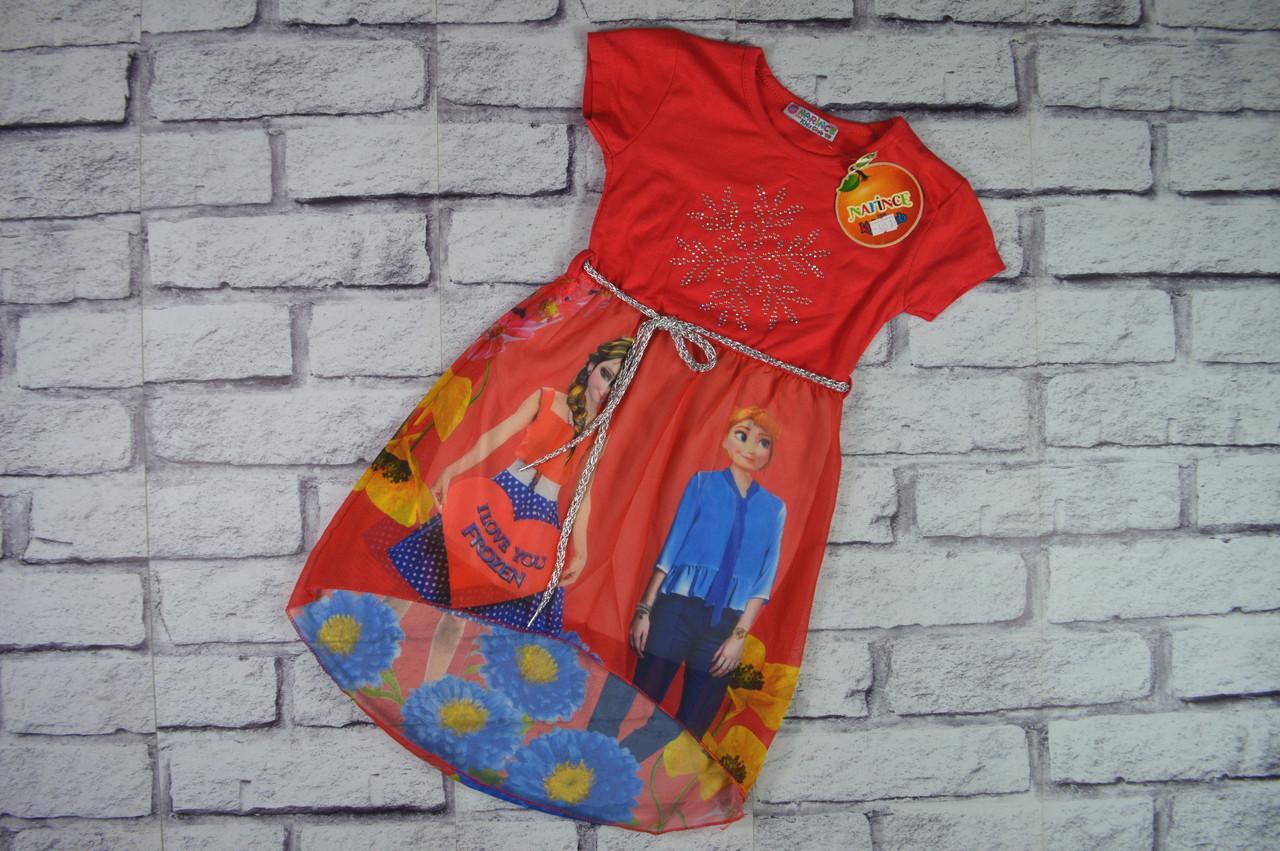Летнее легкое платье, Турция, низ шифон, от 2-х до 7-ми лет