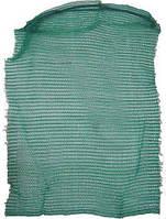 Сетка-мешок для овощей, зеленая, без тесьмы, на 40кг