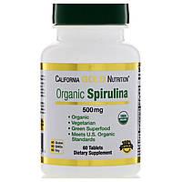 California Gold Nutrition, Спирулина, органическое происхождение продукта сертифицировано США, вегетарианский